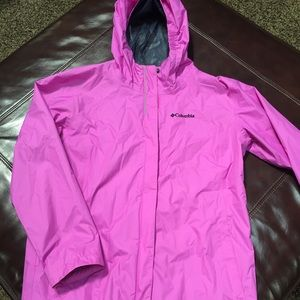 "Columbia ""youth "" girls light jacket size XL"